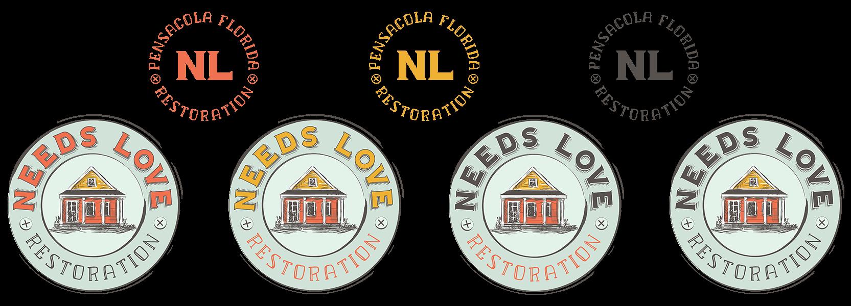 Needs Love Restoration Logo Variations